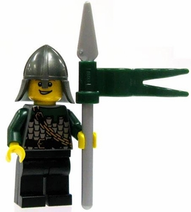LEGO Kingdoms LOOSE Green Kingdom Mini Figure Dragon Spearman [Spear & Conical Helm]