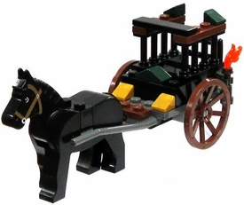 LEGO Kingdoms LOOSE Green Kingdom Mini Figure Dragon Prison Cart with Draft Horse