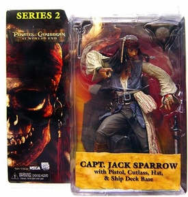 NECA Pirates of the Caribbean At World's End Series 2 Action Figure Jack Sparrow [No Coat] BLOWOUT SALE!