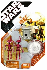 Star Wars 30th Anniversary Saga 2007 Legends Action Figure #24 Pit Droids [Maroon]