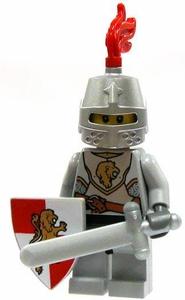 LEGO Kingdoms LOOSE Red Kingdom Mini Figure Lion Knight [Sword, Small Shield & Great Helm]