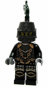 LEGO Kingdoms LOOSE Green Kingdom Mini Figure Dragon Knight in Great Helm, Scale Mail & Black Plate [Army Builder]