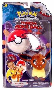 Pokemon Toy Plush Throw Poke Ball Diamond & Pearl Series 7 Eevee