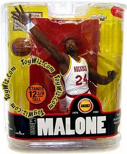 McFarlane Toys NBA Sports Picks Legends Series 3 Action Figure Moses Malone (Houston Rockets) White Jersey Variant