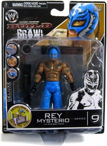 WWE Wrestling Build N' Brawl Series 9 Mini 4 Inch Action Figure Rey Mysterio