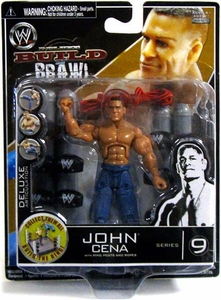WWE Wrestling Build N' Brawl Series 9 Mini 4 Inch Action Figure John Cena