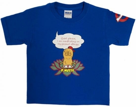 P. Nutty Meditates T-ShirtBLUE 3T