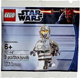 LEGO Star Wars Exclusive Chrome Mini Figure TC-14 Protocol Droid