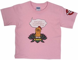 P. Nutty Meditates T-ShirtPINK X-SMALL (5/6) BLOWOUT SALE!