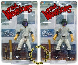 Mezco Toyz The Warriors ToyWiz Exclusive Limited Edition Action Figure Set of Both Purple & Black Faced Baseball Fury [Dirty & Clean Versions!] Only 1,500 Made!