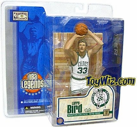McFarlane Toys NBA Sports Picks Legends Series 1 Action Figure Larry Bird (Boston Celtics) White Jersey Variant