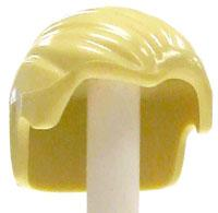 LEGO LOOSE Hair Blonde Combed  Back with Widow's Peak