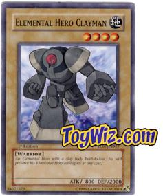 YuGiOh The Lost Millennium Single Card Common TLM-EN003 Elemental Hero Clayman