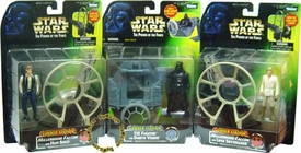 Star Wars POTF2 Power of the Force Deluxe Gunner Stations Set of all 3