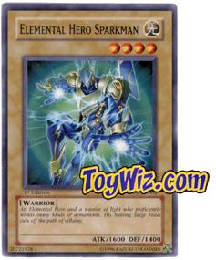 YuGiOh The Lost Millennium Single Card Common TLM-EN004 Elemental Hero Sparkman
