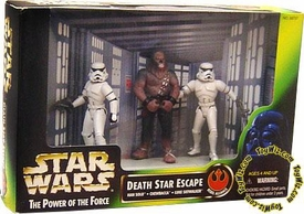 Star Wars POTF2 Power of the Force Cinema Scene Death Star Escape with Chewbacca, Stormtrooper Disguise Luke, and Stormtrooper Disguise Han