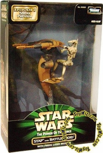 Star Wars Power Of The Force Episode I Sneak Preview STAP and Battle Droid with Firing Laser Missiles