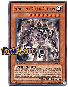 YuGiOh The Lost Millennium Ultra Rare Single Card TLM-EN006 Ancient Gear Golem