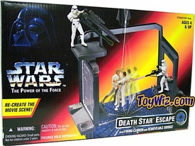 Star Wars POTF2 Power of the Force Death Star Escape with Firing Cannon and Removeable Bridge