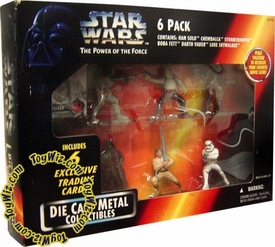 Star Wars Power of the Force Action Masters 6-Pack Die Cast Metal Collectibles