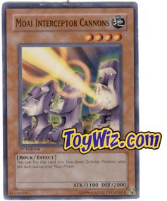 YuGiOh The Lost Millennium Single Card Common TLM-EN014 Moai Interceptor Cannons