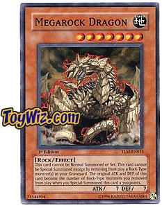 YuGiOh The Lost Millennium Super Rare Single Card TLM-EN015 Megarock Dragon