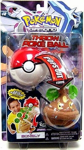 Pokemon Toy Plush Throw Poke Ball Diamond & Pearl Series 2 Bonsly