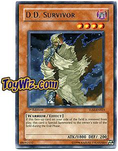 YuGiOh The Lost Millennium Rare Single Card TLM-EN023 D.D. Survivor