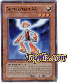 YuGiOh The Lost Millennium Single Card Common TLM-EN030 Batteryman AA