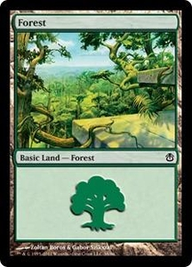 Magic the Gathering Duel Decks: Ajani vs. Nicol Bolas Single Card Land Land #38 Forest