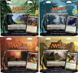 Magic the Gathering Planechase 2012 Set of 4 Decks [Chaos Reigns, Night of the Ninja, Primordial Hunger & Savage Auras]