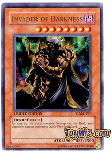 YuGiOh The Lost Millennium Special Edition Promo Single Card Ultra Rare TLM-ENSE1 Invader of Darkness