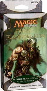 Magic the Gathering Duels of the Planeswalkers Teeth of the Predator Garruk Wildspeaker Deck