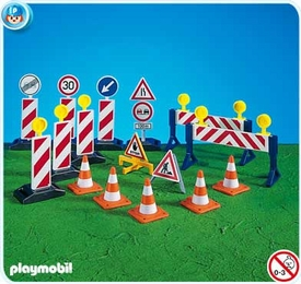 Playmobil Construction Set #7280 Construction Site Signs