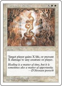 Magic the Gathering Fifth Edition Single Card Common Alabaster Potion