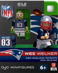 OYO Football NFL Building Brick Minifigure Wes Welker [New England Patriots]
