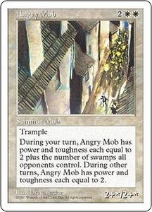 Magic the Gathering Fifth Edition Single Card Uncommon Angry Mob