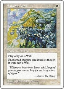 Magic the Gathering Fifth Edition Single Card Rare Animate Wall