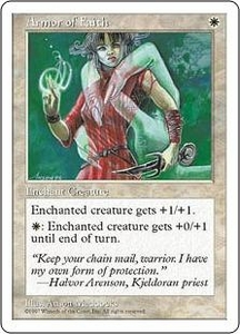 Magic the Gathering Fifth Edition Single Card Common Armor of Faith