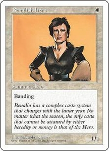 Magic the Gathering Fifth Edition Single Card Common Benalish Hero