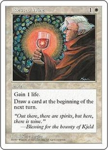 Magic the Gathering Fifth Edition Single Card Common Blessed Wine