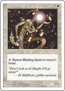 Magic the Gathering Fifth Edition Single Card Rare Blinking Spirit