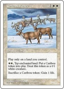 Magic the Gathering Fifth Edition Single Card Rare Caribou Range