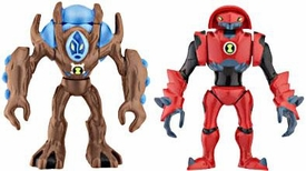 Ben 10 Alien Creation Chamber Mini Figure 2-Pack Water Hazard & Ultimate Swampfire