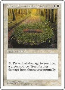 Magic the Gathering Fifth Edition Single Card Common Circle of Protection: Green