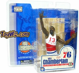 McFarlane Toys NBA Sports Picks Legends Series 1 Action Figure Wilt Chamberlain (Philidelphia 76ers) White & Red Jersey