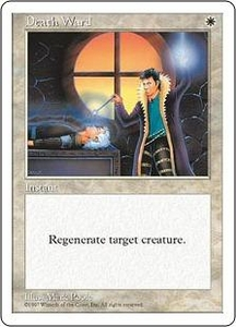 Magic the Gathering Fifth Edition Single Card Common Death Ward