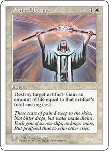 Magic the Gathering Fifth Edition Single Card Common Divine Offering