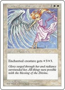 Magic the Gathering Fifth Edition Single Card Uncommon Divine Transformation