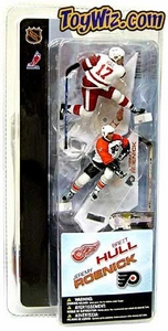 McFarlane Toys NHL 3 Inch Sports Picks Series 1 Mini Figure 2-Pack Brett Hull (Detroit Red Wings) & Jeremy Roenick (Philadelphia Flyers)